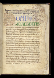 Bede's Prose 'Life of St Cuthbert' f.2r